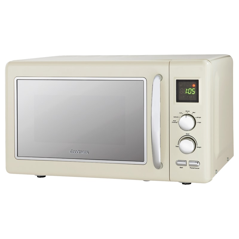 Goodmans Digital Microwave 20l Cream Kitchen Small