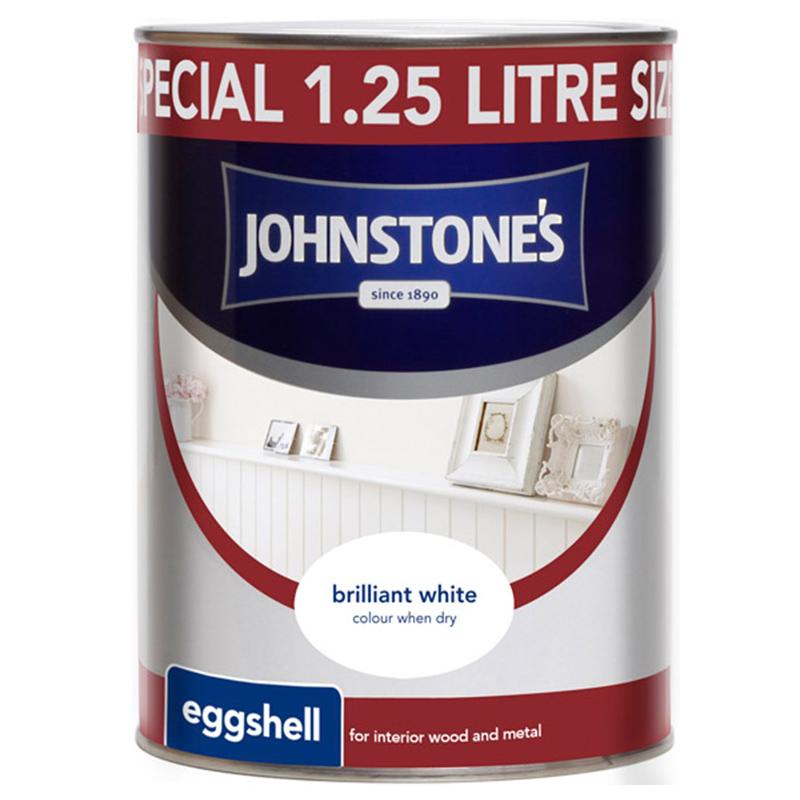 Johnstones Eggshell Paint Brilliant White 25L DIY
