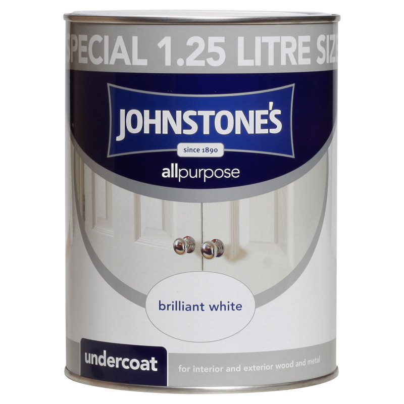 Johnstone's All Purpose Undercoat Paint - Brilliant White 1.25L