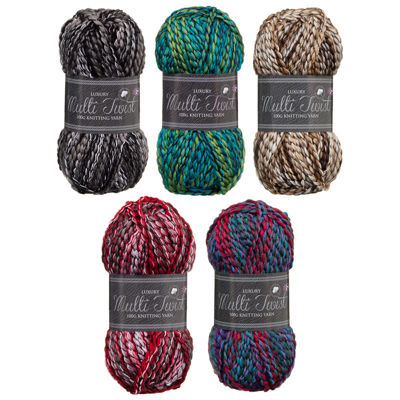 ... Sports & Leisure Hobby & Leisure Knitting Luxury Multi Twist Yarn...