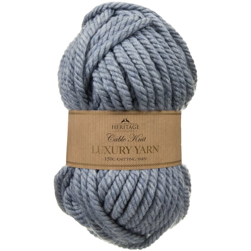 Cable Knit Yarn 150g - Blue