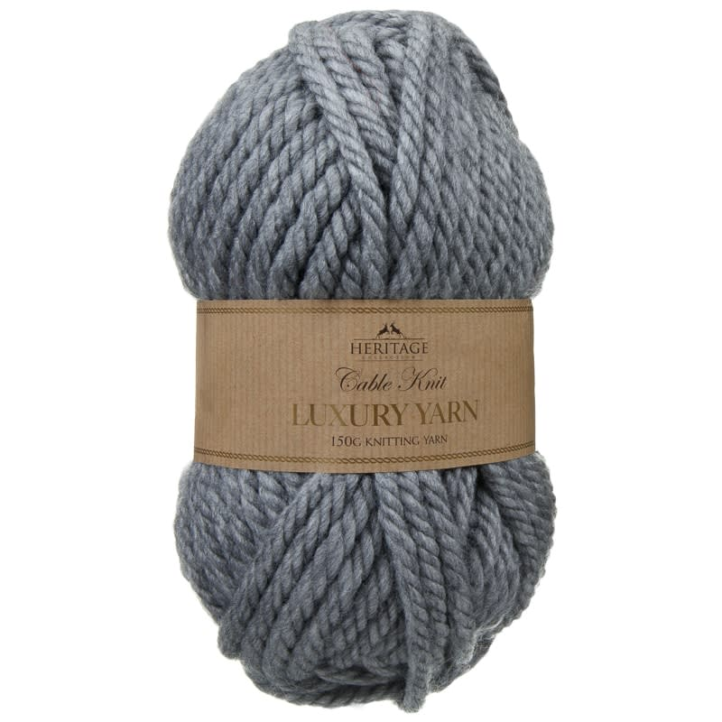 Cable Knit Yarn 150g Grey Knitting Amp Crochet