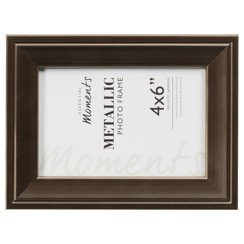 metallic photo frames 4 x 6 home gifts picture frames. Black Bedroom Furniture Sets. Home Design Ideas