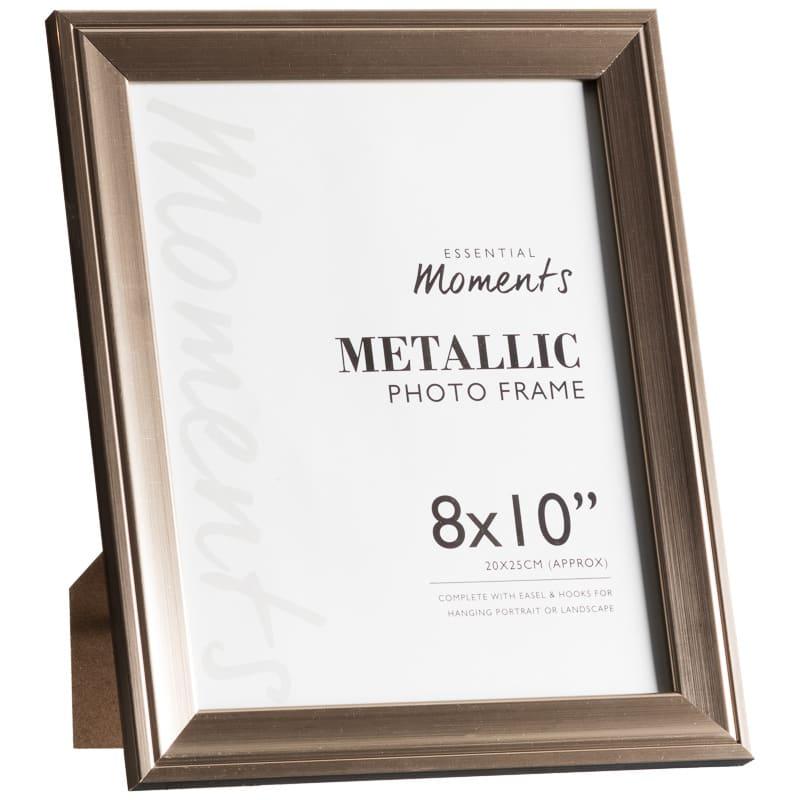 metallic photo frames 8 x 10 2pk home gifts picture frame. Black Bedroom Furniture Sets. Home Design Ideas