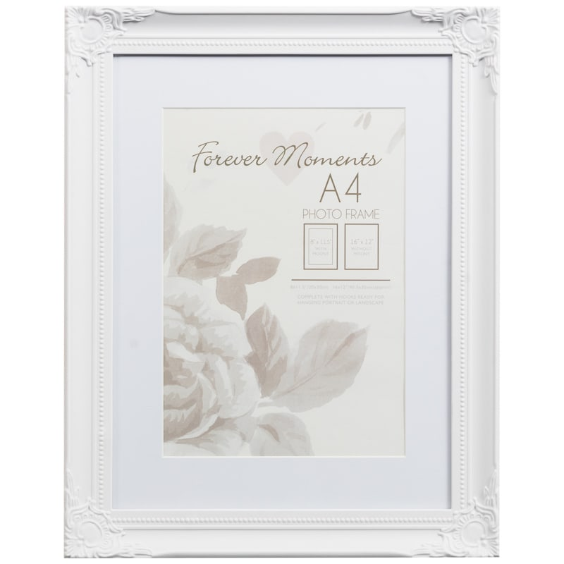 306261 a4 mounted vintage white photo frame1 - White Vintage Picture Frames