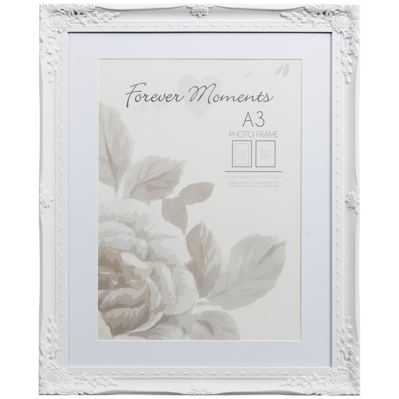 306262 a3 mounted wintage white photo frame1 - White Vintage Picture Frames