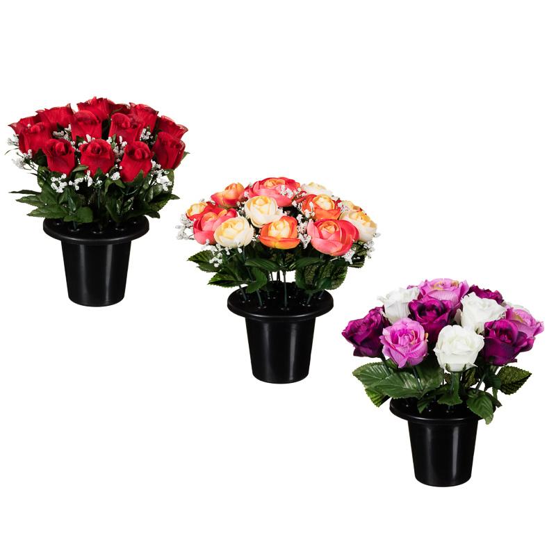 Floral Grave Pots 25cm Artificial Flowers Amp Plants