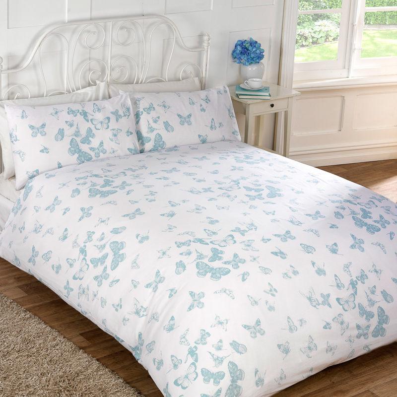 vintage butterfly duvet set double duvet covers. Black Bedroom Furniture Sets. Home Design Ideas
