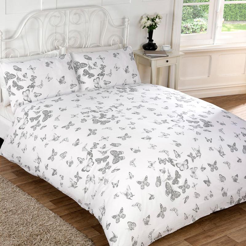 vintage butterfly duvet set king size duvet covers. Black Bedroom Furniture Sets. Home Design Ideas