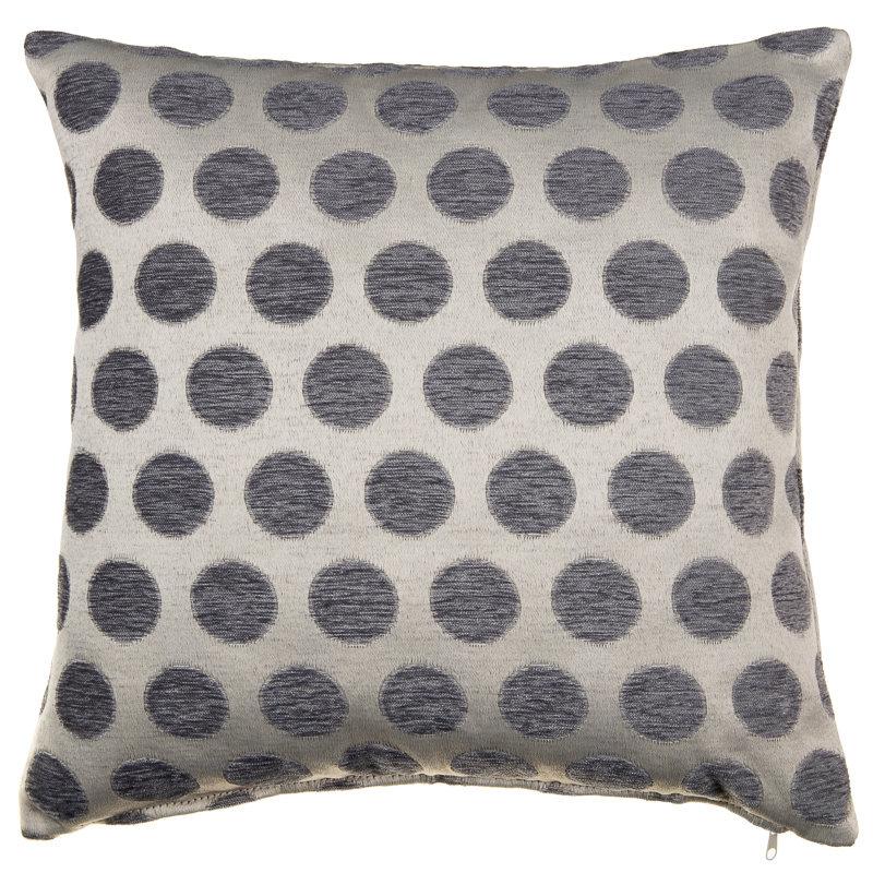 B Amp M Suzie Spot Chenille Cushion Cover Grey Soft Furnishings