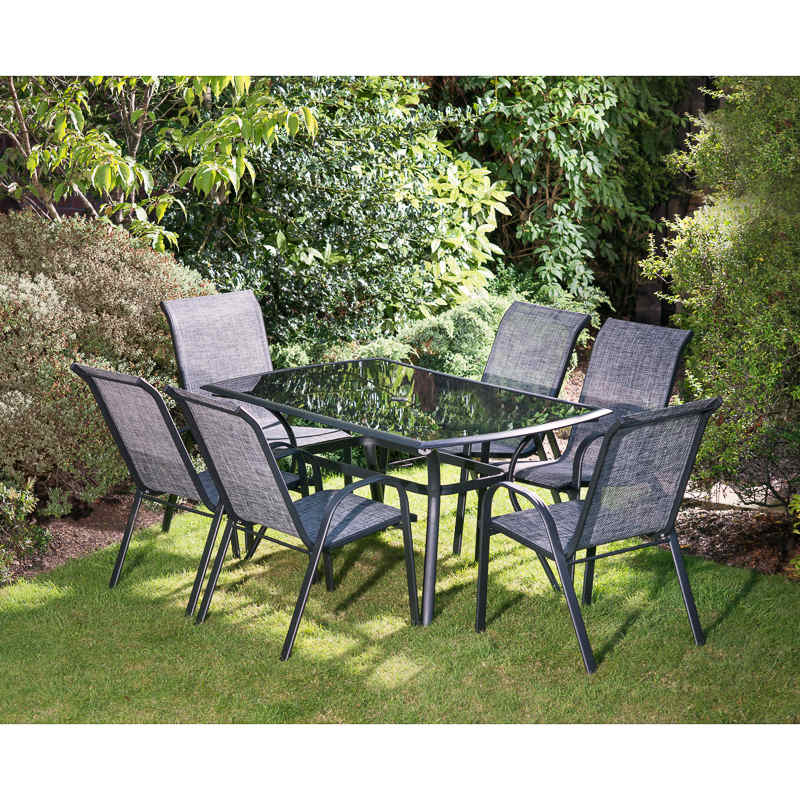 Seville Patio Set 7pc Garden Furniture