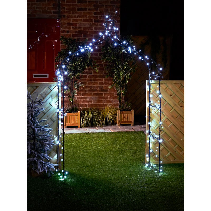 B Amp M 240 Solar Powered Led String Lights White 306887 B Amp M