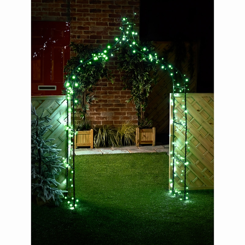 Eveready Led String Lights 240pk Green Solar Lighting