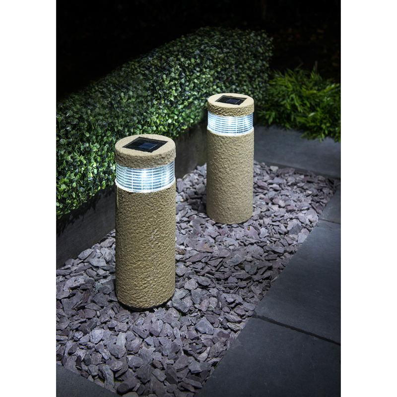 Solar Stake Post Lights Outdoor Garden Solar Lights