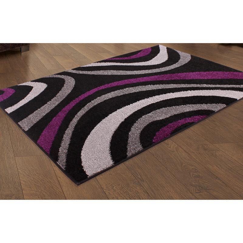 b m plum swirl design rug 150 x 210cm patterned rug. Black Bedroom Furniture Sets. Home Design Ideas