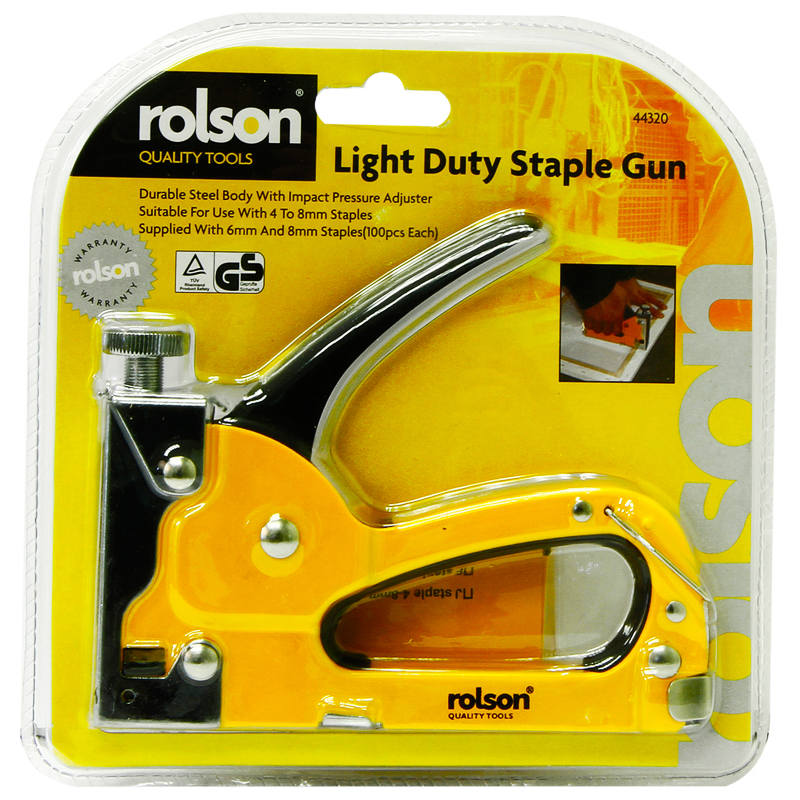 Staple Gun Stapler Stapling Machine Kit w// 100pcs 6mm Staples Craft Hobby DIY