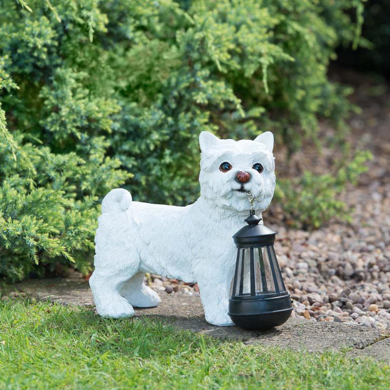 Dog With Solar Lantern 307133 B Amp M