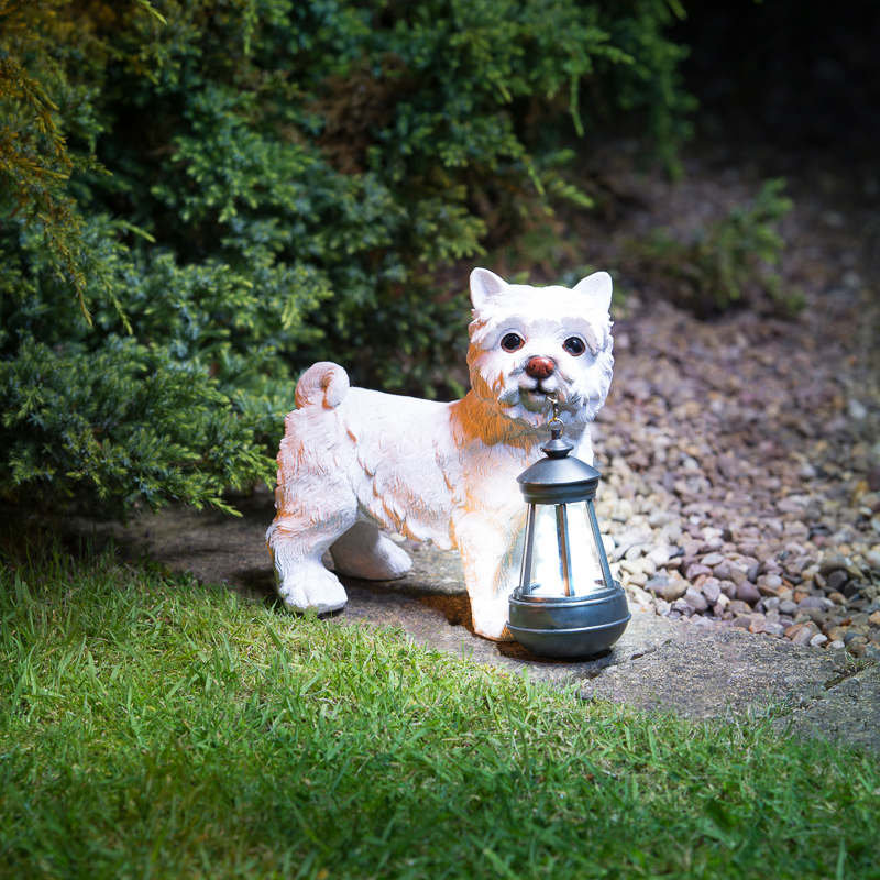 Outside Lights At B M: Dog With Solar Lantern - 307133