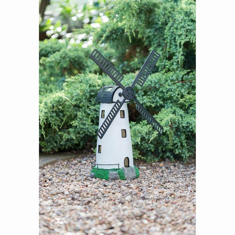 307136 solar powered light up windmill
