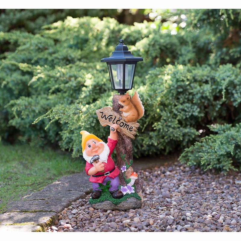 307140 gnome with solar lamp post 5