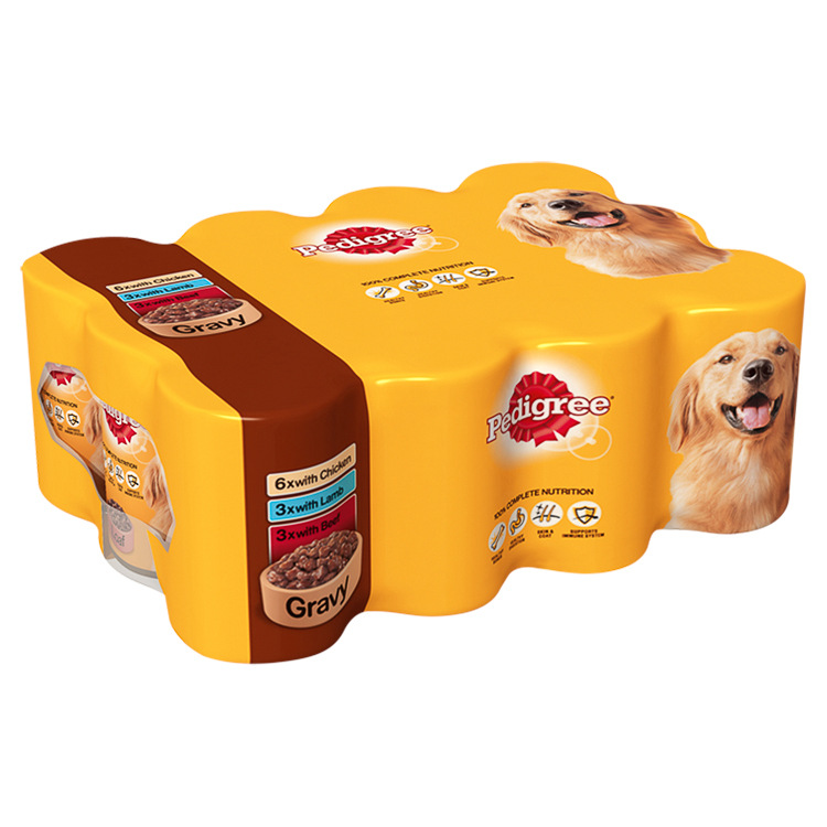 Pedigree Chunks Dog Food in Gravy Meat Selection 12pk