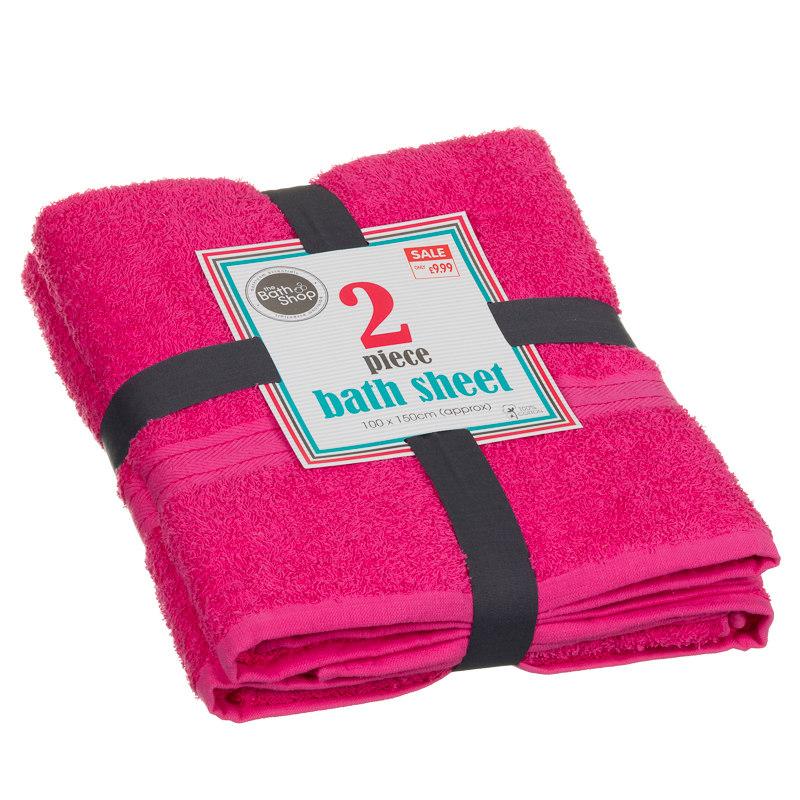 Bath Sheets Oversized: Plain Oversized Bath Sheet Bale 2pk