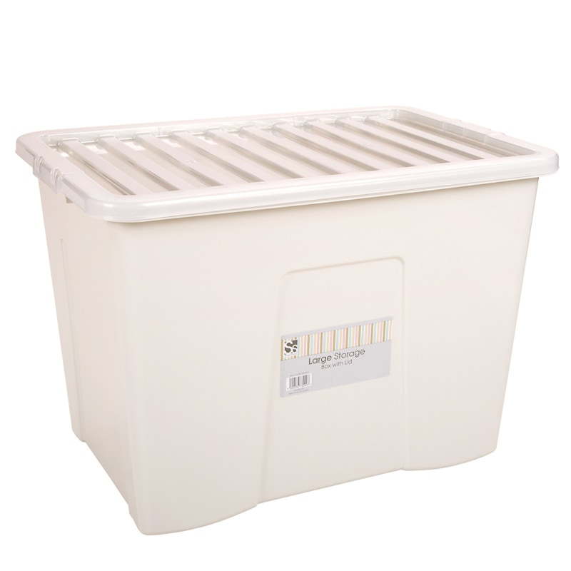 Large Storage Box with Lid 80L Storage Boxes