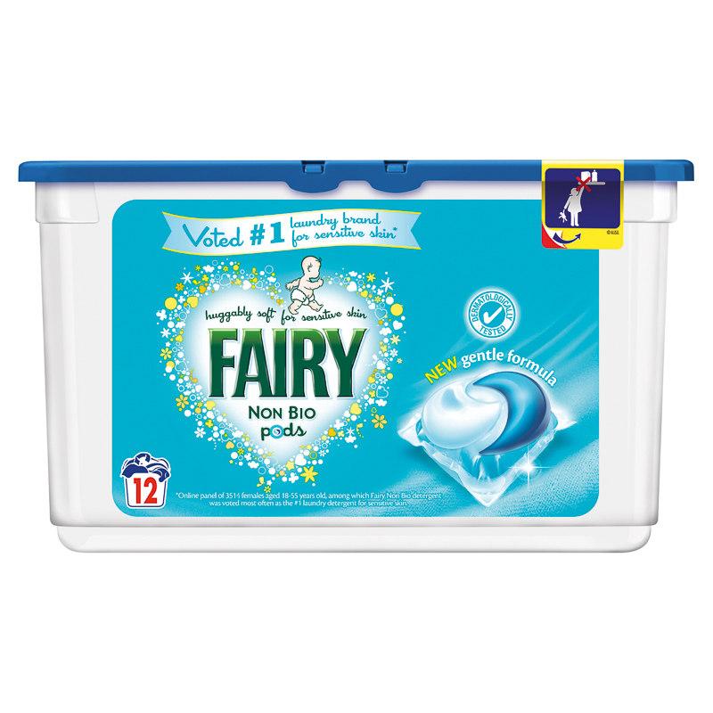 Fairy Non Bio Pods 12pk   Washing, Laundry