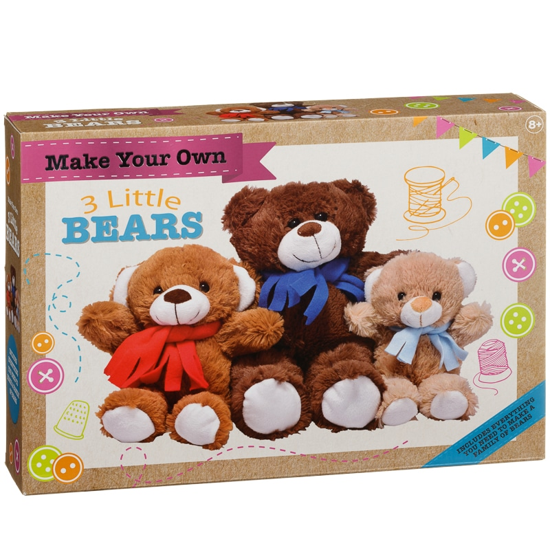 Build Your Own Bear Family Stuffed Animals Toys B Amp M