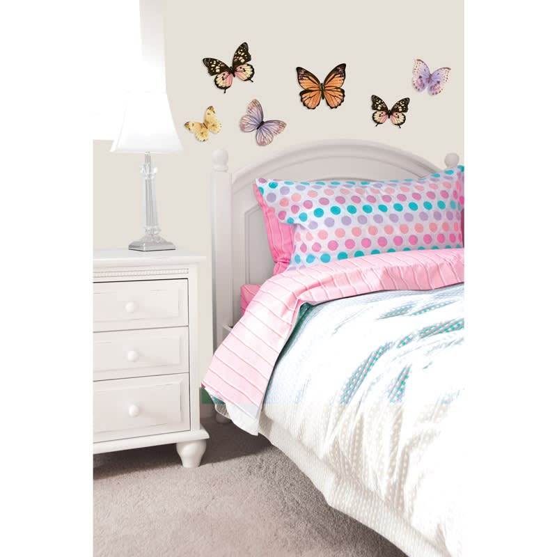 307939 Home Decor 3D Butterfly Wall Stickers Gold