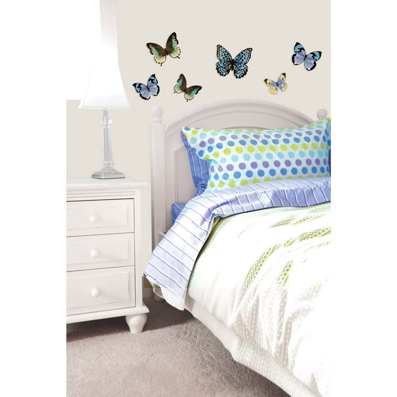 3d butterfly wall sticker silver home accessories b amp m autumn scene silver birch tree wall stickers by the binary