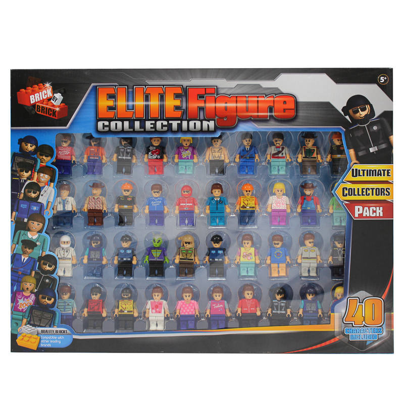 Elite Block Figure Collection 40pk Action Figures Toys