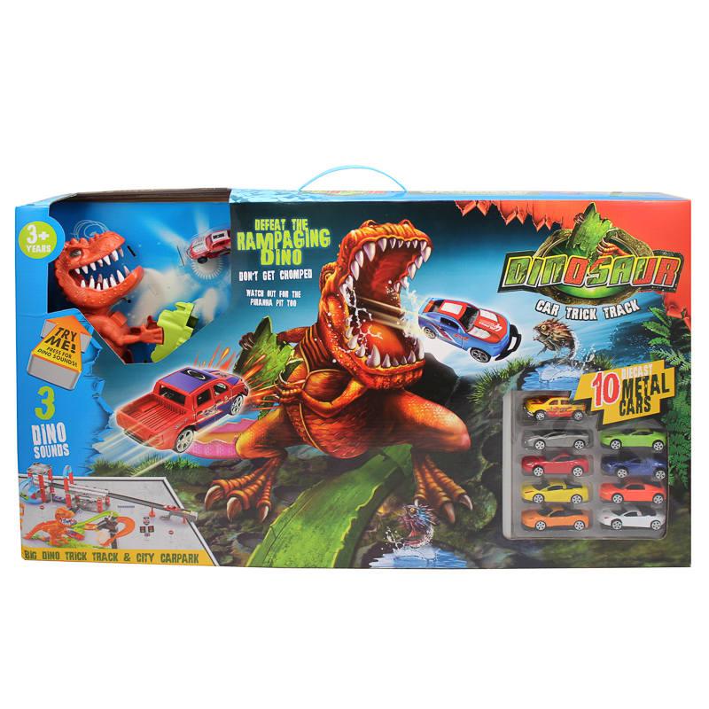 dinosaur car trick track toys car games kids dinosaurs. Black Bedroom Furniture Sets. Home Design Ideas