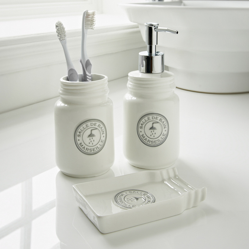 Salle de bain marseille bathroom set 3pc white bathroom accessories - Salle de bain accessoires ...