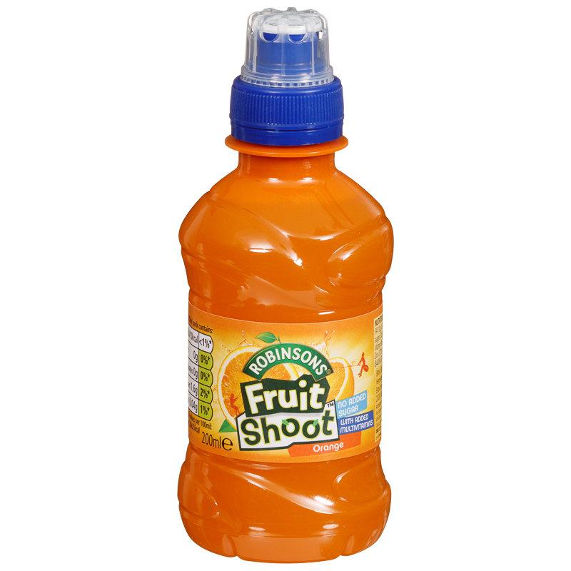 Robinsons Fruit Shoot Orange 4 X 200ml Soft Drinks