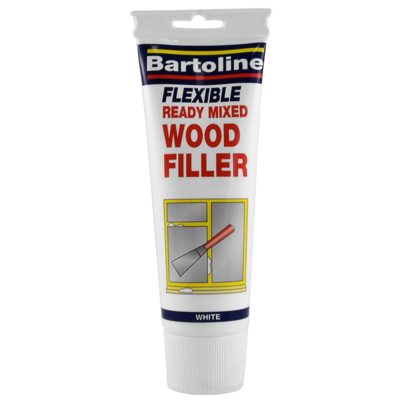 Bartoline Ready Mixed Wood Filler 330g White Decorating Supplies