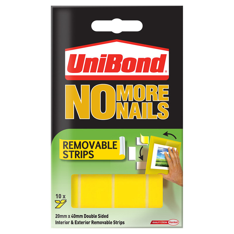 UniBond No More Nails - Removable Strips | Decorating, Adhesive