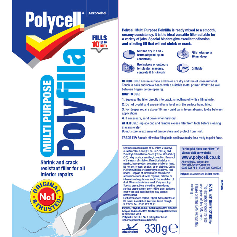 Polycell Multi-Purpose Polyfilla 330g