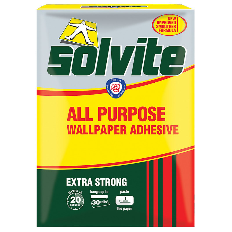 Solvite All Purpose Wallpaper Adhesive Box Decorating