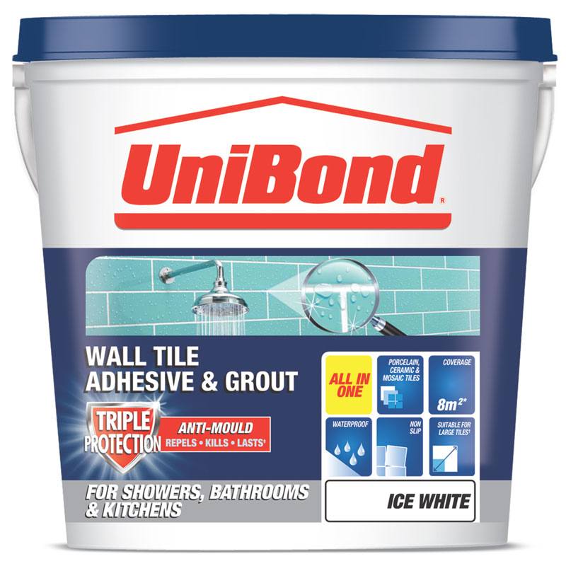 Unibond Wall Tile Adhesive And Grout Triple Protect Diy