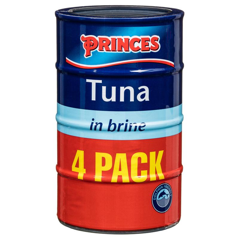 Princes Tuna In Brine 4 X 145g Tinned Fish Tuna Groceries
