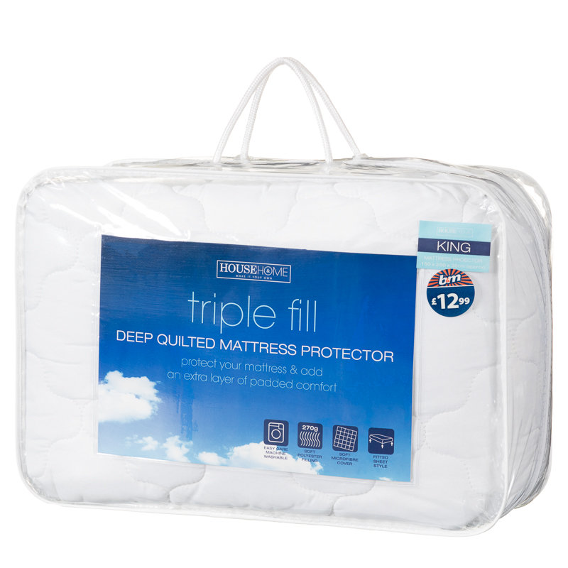 Triple Fill Mattress Protector King