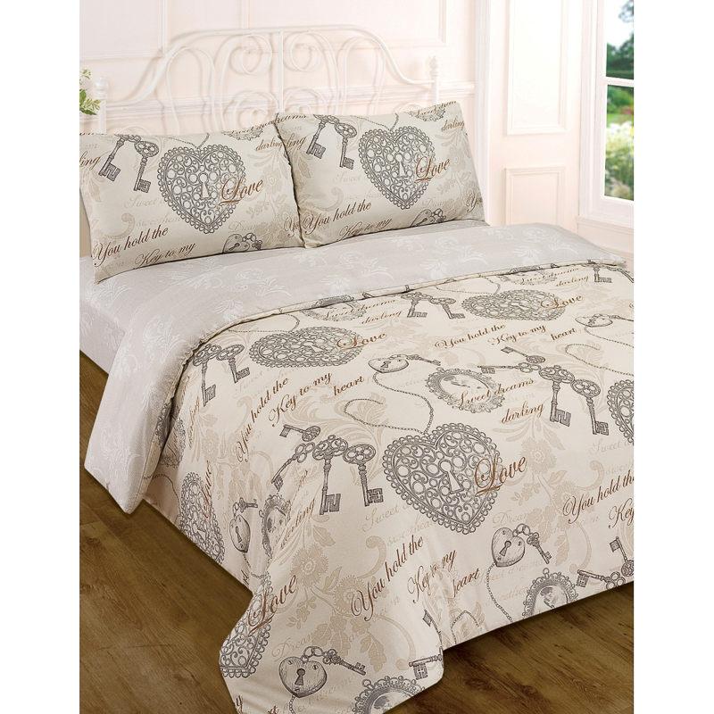 Sweet Dreams Vintage Complete Duvet Set King Bedding