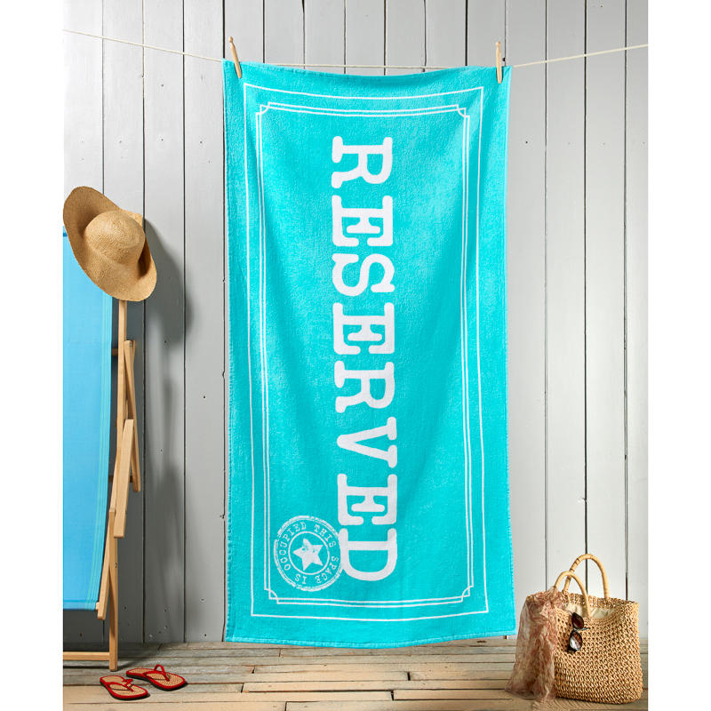 Fashion Slogan Beach Towel Reserved Holiday Shop Towels
