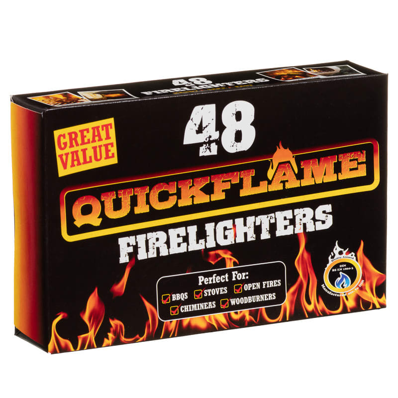 Quickflame Firelighters 48pk Winter Heating Fire Lighters