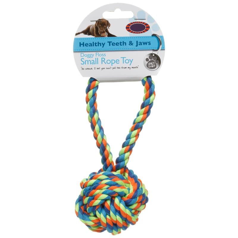 Dog Rope Toy Ball Tug Pets Dog Toys B Amp M