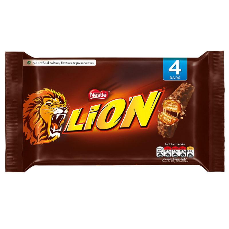 Nestle Lion Bar 4pk | Chocolate Bars & Confectionery