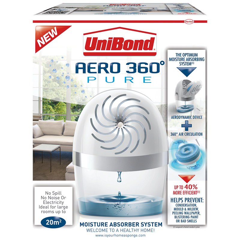 unibond aero 360 moisture absorber device dehumidifiers. Black Bedroom Furniture Sets. Home Design Ideas