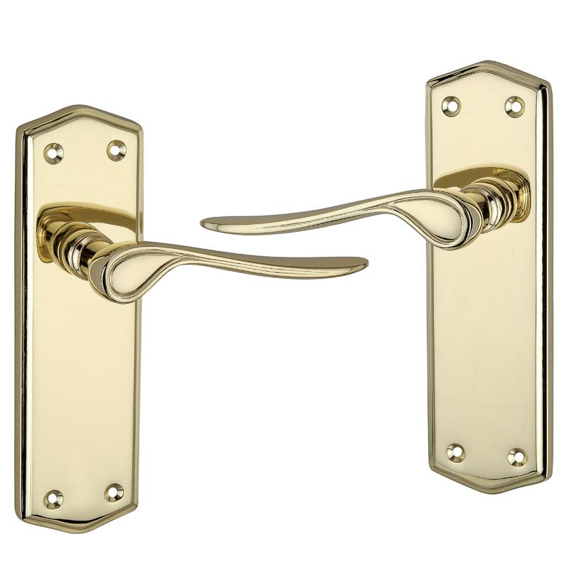Rowan Polished Brass Effect Internal Door Handle Door Knobs