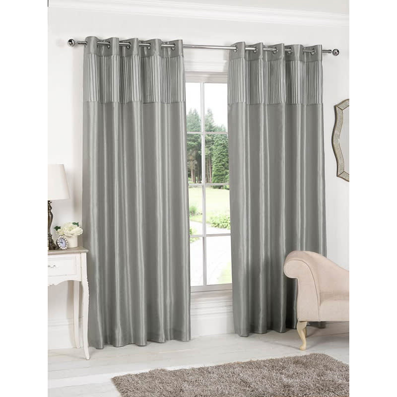 Pleated Top Border Fully Lined Curtain | Curtains - B&M